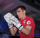 4th October 2017, National Football Museum, Manchester, England; Anthony Crolla and Ricky Burns public workout session; Anthony Crolla does some sparring exercise