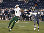 Colorado State wide receiver Warren Jackson(9) can't make the catch against Nevada in the second half of an NCAA college football game in Reno, Nev., Saturday, Nov. 10, 2018. (AP Photo/Tom R. Smedes)
