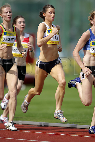 9 July 2005: Catherine Riley running in the women's 800m Heats at the Norwich Union World & Commonwealth Trials & AAA Champs, Manchester Regional Arena, Manchester. Photo: Glyn Kirk/actionplus...050709 woman women athletics athlete