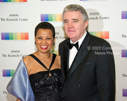 Opera singer Harolyn Blackwell and Peter Greer arrive for the formal Artist's Dinner honoring the recipients of the 39th Annual Kennedy Center Honors hosted by United States Secretary of State John F. Kerry at the U.S. Department of State in Washington, D.C. on Saturday, December 3, 2016. The 2016 honorees are: Argentine pianist Martha Argerich; rock band the Eagles; screen and stage actor Al Pacino; gospel and blues singer Mavis Staples; and musician James Taylor.<br /> Credit: Ron Sachs / Pool via CNP