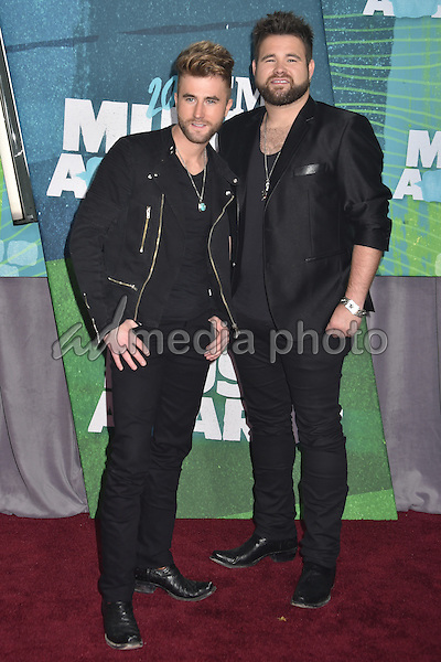 10 June 2015 - Nashville, Tennessee - The Swon Brothers, Zach Swon, Colton Swon. 2015 CMT Music Awards held at Bridgestone Arena. Photo Credit: Laura Farr/AdMedia