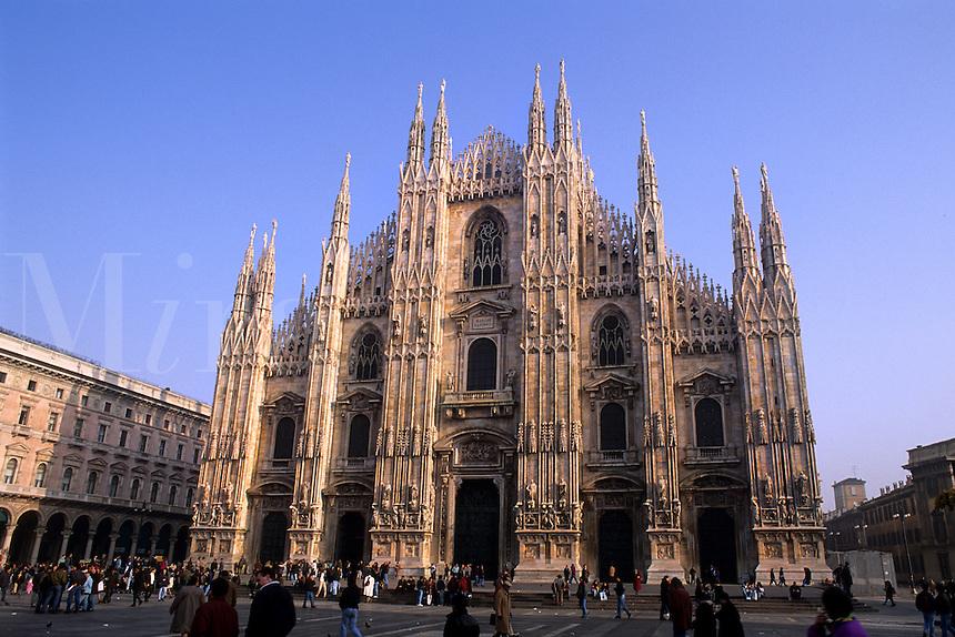 Fabulous Duomo Church the largest Gothic Church in world in Milan Milano Ital