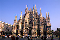 Fabulous Duomo Church the largest Gothic Church in world in Milan Milano Ital