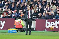 West Ham Manager Manuel Pellegrini  during West Ham United vs Arsenal, Premier League Football at The London Stadium on 12th January 2019