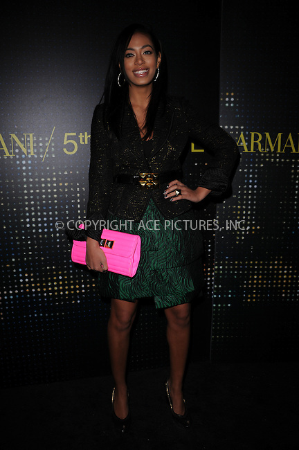 WWW.ACEPIXS.COM . . . . . ....February 17 2009, New York City....Singer Solange Knowles arriving for the opening of the new Armani 5th Avenue store on February 17, 2009 in New York City.....Please byline: KRISTIN CALLAHAN - ACEPIXS.COM.. . . . . . ..Ace Pictures, Inc:  ..tel: (212) 243 8787 or (646) 769 0430..e-mail: info@acepixs.com..web: http://www.acepixs.com