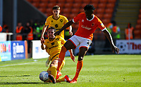 Blackpool's Armand Gnanduillet battles with Milton Keynes Dons' Joe Walsh<br /> <br /> Photographer Alex Dodd/CameraSport<br /> <br /> The EFL Sky Bet League One - Blackpool v MK Dons  - Saturday September 14th 2019 - Bloomfield Road - Blackpool<br /> <br /> World Copyright © 2019 CameraSport. All rights reserved. 43 Linden Ave. Countesthorpe. Leicester. England. LE8 5PG - Tel: +44 (0) 116 277 4147 - admin@camerasport.com - www.camerasport.com