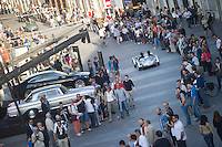 MILLE MIGLIA HYSTORICAL CAR RACE 2014 IN THE PICTURE A CAR IN CORSO ZANARDELLI<br />