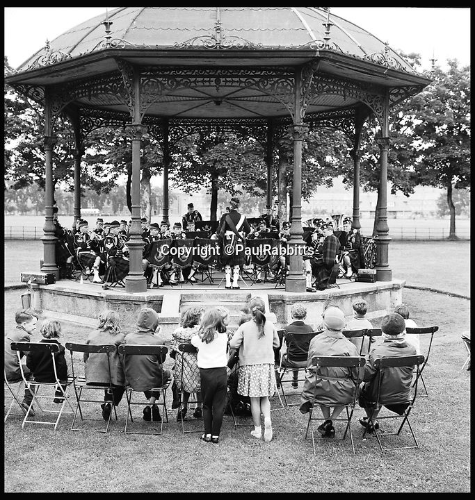 BNPS.co.uk (01202 558833)<br /> Pic: PaulRabbitts/BNPS<br /> <br /> ***Please Use Full Byline***<br /> <br /> The bandstand in Saughton Park, Edinburgh. Lost.<br /> <br /> A landscape gardener is trumpeting the great British creation of the bandstand after touring the country's parks to study the iconic structures for a new book.<br /> <br /> Paul Rabbitts' work is a celebration of the Victorian platforms and a throwback to the halycon days of outdoor music when thousands of people would gather in public parks for a brass band performance.