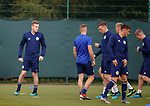 02.09.2019 Scotland u-21 training, Oriam, Edinburgh.<br /> George Johnston of Feyenoord (left) during training ahead of the upcoming UEFA European Under-21 Championship Qualifier against San Marino this Thursday evening in Paisley.