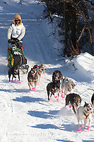 Musher Marshall Newton on Long Lake at the Re-Start of the 2011 Iditarod Sled Dog Race in Willow, Alaska.