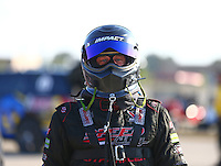 Oct 14, 2016; Ennis, TX, USA; NHRA funny car driver John Bojec during qualifying for the Fall Nationals at Texas Motorplex. Mandatory Credit: Mark J. Rebilas-USA TODAY Sports