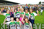 Under 14 Kerry girls team pictured at the Kerry fans day held in Fitzgerald Stadium, Killarney on Saturday last were front l-r: Erika McGlynn, Grace Cahillane, Lucy Clifford and Rachel Dannelle (Farranfore). Back l-r: Hannah O'Donoghue, Shelly Clifford, Rachel Fitzgerald, Aoife O'Callaghan, Niamh Ni Chonachuir Fiadhna Tagney and Ciara Murphy. at Kerry GAA family day at Fitzgerald Stadium on Saturday.