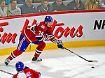 21 December 2008: Montreal Canadiens' left wing forward Sergei Kostitsyn from Belarusse controls the puck in the third period against the Carolina Hurricanes at the Bell Centre in Montreal, Quebec, Canada. The Hurricanes defeated the Canadiens 3-2 in overtime. ***** Editorial Sales Only ***** Mandatory Photo Credit: Ed Wolfstein Photo