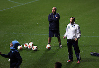 Napoli manager Rafa Benitez (TOP) during training