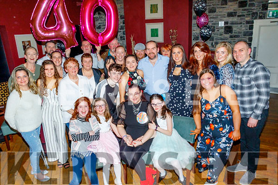 Caroline O'Sullivan from Tralee, seated, got a great surprise from her family, when she went to O'Donnells bar in the town last Saturday night to find they had a 40th birthday party waiting inside for her.