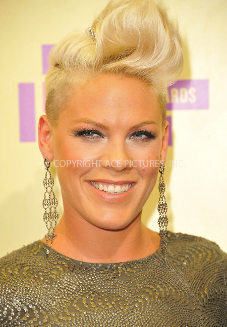 WWW.ACEPIXS.COM....September 6, 2012, Los Angeles, CA.....Pink arriving at the 2012 MTV Video Awards at the Staples Center on September 6, 2012 in Los Angeles, California. ..........By Line: Peter West/ACE Pictures....ACE Pictures, Inc..Tel: 646 769 0430..Email: info@acepixs.com