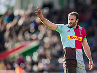 Harlequins' Jamie Roberts<br /> <br /> Photographer Bob Bradford/CameraSport<br /> <br /> Aviva Premiership Round 14 - Harlequins v Wasps - Sunday 11th February 2018 - Twickenham Stoop - London<br /> <br /> World Copyright &copy; 2018 CameraSport. All rights reserved. 43 Linden Ave. Countesthorpe. Leicester. England. LE8 5PG - Tel: +44 (0) 116 277 4147 - admin@camerasport.com - www.camerasport.com