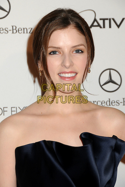 "ANNA KENDRICK .attends the Art of Elysium 4th Annual Charity Gala ""Heaven"" held at The Annenberg Building at The California Science Center in Los Angeles, California, USA, January 15th 2011..portrait headshot strapless navy blue silk satin .CAP/ADM/BP.©Byron Purvis/AdMedia/Capital Pictures."