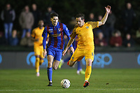 Matthew Dolan of Newport County during Maldon & Tiptree vs Newport County, Emirates FA Cup Football at the Wallace Binder Ground on 29th November 2019