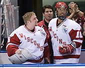 Shane Connelly, Robbie Earl - The University of Wisconsin Badgers defeated the University of Maine Black Bears 5-2 in their 2006 Frozen Four Semi-Final meeting on Thursday, April 6, 2006, at the Bradley Center in Milwaukee, Wisconsin.  Wisconsin would go on to win the Title on April 8, 2006.