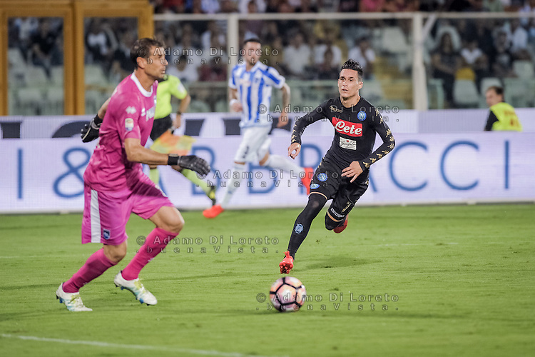 Callejon Jose' (Napoli) during the Italian Serie A football match Pescara vs SSC Napoli on August 21, 2016, in Pescara, Italy. Photo by Adamo Di Loreto