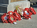 Wreaths pictured at the annual memorial cermony at the Cenotaph. Photo: Colin Bell/pressphotos.ie
