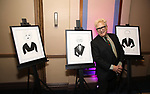 Ken Fallin with his drawings of the Honorees attends the cocktail party for the Dramatists Guild Foundation 2018 dgf: gala at the Manhattan Center Ballroom on November 12, 2018 in New York City.
