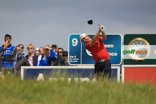 Andy Sullivan (ENG) on the 9th tee during Round 3 of the 100th Open de France, played at Le Golf National, Guyancourt, Paris, France. 02/07/2016. <br /> Picture: Thos Caffrey | Golffile<br /> <br /> All photos usage must carry mandatory copyright credit   (&copy; Golffile | Thos Caffrey)