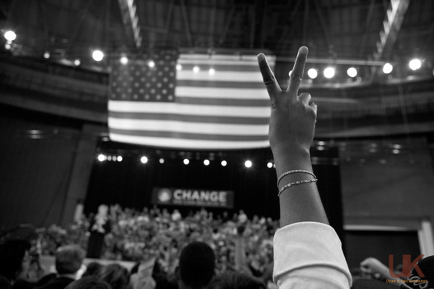 Texas Rally for Obama during Democratic fight