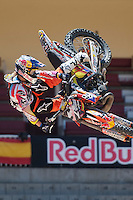 Training Red Bull X-Fighters 2012. Madrid. Rider In the picture Levi Sherwood NZL. July 19, 2012. (ALTERPHOTOS/Ricky Blanco) /NortePhoto.com<br />  <br /> **CREDITO*OBLIGATORIO** *No*Venta*A*Terceros*<br /> *No*Sale*So*third* ***No*Se*Permite*Hacer Archivo***No*Sale*So*third*©Imagenes*con derechos*de*autor©todos*reservados*.