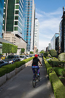 The business district on Av. Ferrocarril Cuernavaca between Palamas and Reforma near the Palmas neighborhood, Lomas de Chapultepec, Mexico City, Mexico