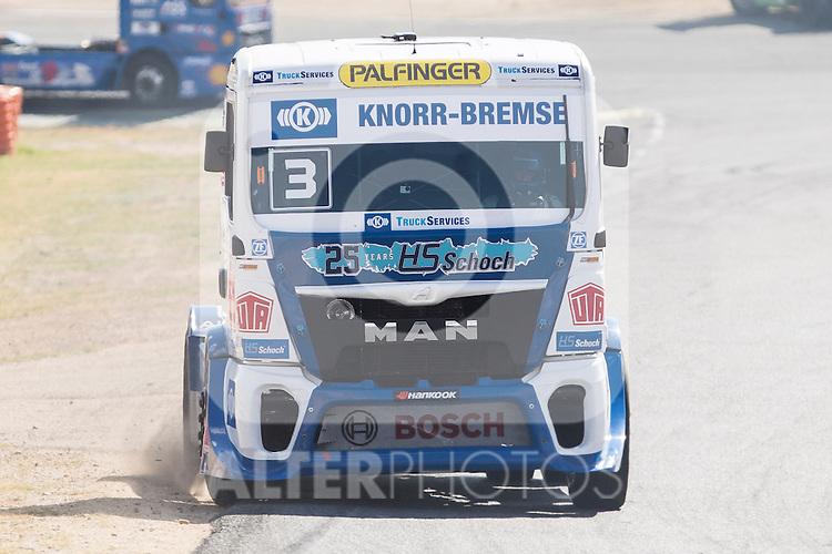 German driver Jochen  Hahn belonging German team Jochen Hahn during the fist race R1 of the XXX Spain GP Camion of the FIA European Truck Racing Championship 2016 in Madrid. October 01, 2016. (ALTERPHOTOS/Rodrigo Jimenez)