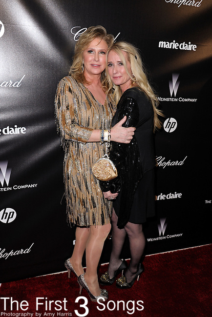 Kathy Hilton and Kim Richards attend the 2012 Weinstein Company Golden Globes After Party at The Beverly Hilton Hotel in Beverly Hills, CA on January 15, 2012.