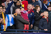 5th October 2017, Hampden Park, Glasgow, Scotland; FIFA World Cup Qualification, Scotland versus Slovakia; Delight for fans at Hampden after an own goal from Slovakia's Martin Skrtel had given Scotland a 1-0 win and kept their qualification hopes alive