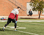 March 19, 2017. Chapel Hill, North Carolina.<br /> <br /> Ryan Switzer, a former UNC receiver, was one of Mitch Trubisky's favorite receivers and his roommate. <br /> <br /> Mitchell Trubisky, the former quarterback of UNC-CH, is projected to be picked in the first round of the 2017 NFL draft.