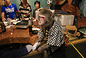 "October 22, 2016, Utsunomiya, Japan - A Japanese macaque Fuku (meaning happiness) gives a table napkin to a guest at an izakaya, Japanese pub ""Kayabuki"" in Utsunomiya, 100km north of Tokyo on Saturday, October 22, 2016. The pub master Kaoru Otsuka trains Japanese macaques to help him and show their entertainment skills to attract customers including lots of foreign tourists.   (Photo by Yoshio Tsunoda/AFLO) LWX -ytd-"