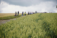 there's some fans waiting for the riders up the Gulperberg, but nothing compared to the crowds that populate the hill for the Amstel Gold Race 2 months earlier<br /> <br /> Ster ZLM Tour<br /> stage 3: Buchten-Buchten (190km)