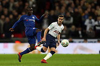 Ngolo Kante of Chelsea and Harry Winks of Tottenham Hotspur during Tottenham Hotspur vs Chelsea, Caraboa Cup Football at Wembley Stadium on 8th January 2019