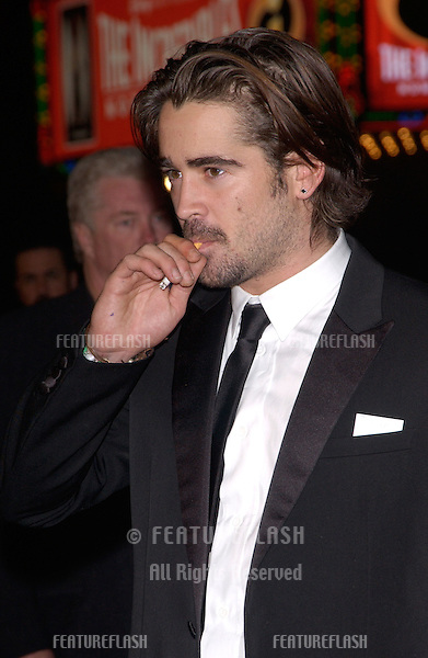Nov 16, 2004; Los Angeles, CA: Actor COLIN FARRELL at the world premiere, in Hollywood, of his new movie Alexander..