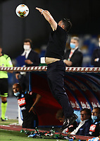 12th July 2020; Stadio San Paolo, Naples, Campania, Italy; Serie A Football, Napoli versus AC Milan; Gennaro Gattuso coach of Napoli collects the loose ball on the sideline