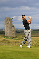 Darragh Coghlan (Portmarnock)) on the 13th tee during Round 2 of The South of Ireland in Lahinch Golf Club on Sunday 27th July 2014.<br />