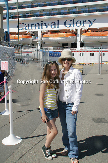 Guiding Light's Liz Keifer and her daughter Bella - Day 2 - August 1, 2010 - So Long Springfield at Sea - A day in port in Saint John, New Brunswick, Canada from the Carnival's Glory (Photos by Sue Coflin/Max Photos)