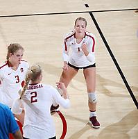 Stanford, CA; September 23, 2018; Women's Volleyball, Stanford vs Arizona.