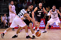 New Zealand Tall Blacks' Shea Ili and Jordan's Malek Kanaan in action during the FIBA World Cup Basketball Qualifier - NZ Tall Blacks v Jordan at Horncastle Arena, Christchurch, New Zealand on Thursday 29 November  2018. <br /> Photo by Masanori Udagawa. <br /> www.photowellington.photoshelter.com
