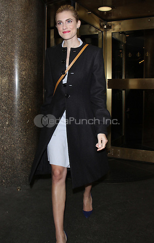 NEW YORK, NY - FEBRUARY 21: Allison Williams seen leaving New York Live after promoting the film, Get Out on February 21, 2017 in in New York City. Credit: RW/MediaPunch