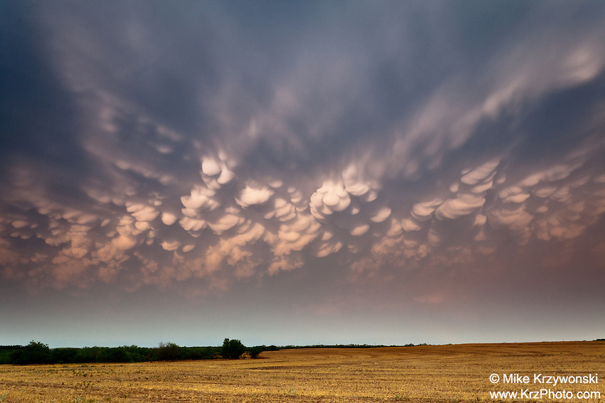 Mammatus Clouds in Paducah, TX, May 30, 2012