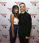 Nicolette Robinson and Rick Hepflores attends Broadway Salutes 10 Years - 2009-2018 at Sardi's on November 13, 2018 in New York City.