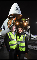 BNPS.co.uk (01202 558833)<br /> Pic: Longleat/BNPS<br /> <br /> Viscount Weymouth and his wife Emma collect the Koala's from Heathrow last night..<br /> <br /> One of Australia's most iconic but increasingly threatened species has received a boost as a group of koalas have arrived in Britain to start a new European breeding group.<br /> <br /> The five southern koalas, four females and one male, are part of a ground-breaking initiative to start a new breeding programme for Europe, a sort of back-up population away from the threats the species face in their home country, such as bushfires and disease.<br /> <br /> The cuddly marsupials made the epic journey from Adelaide in Australia to Longleat in Wiltshire, which will be the only place in Europe visitors can see the bigger of the country's two subspecies.<br /> <br /> Longleat has created a special new enclosure for them, including developing a 4,000-tree eucalyptus plantation to keep the koalas well-fed.<br /> <br /> Both the South Australian Government and Cleland Wildlife Park have very strict rules on allowing the animals out of the country.