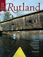 Paddling Vermont photo essay cover in Rutland Magazine