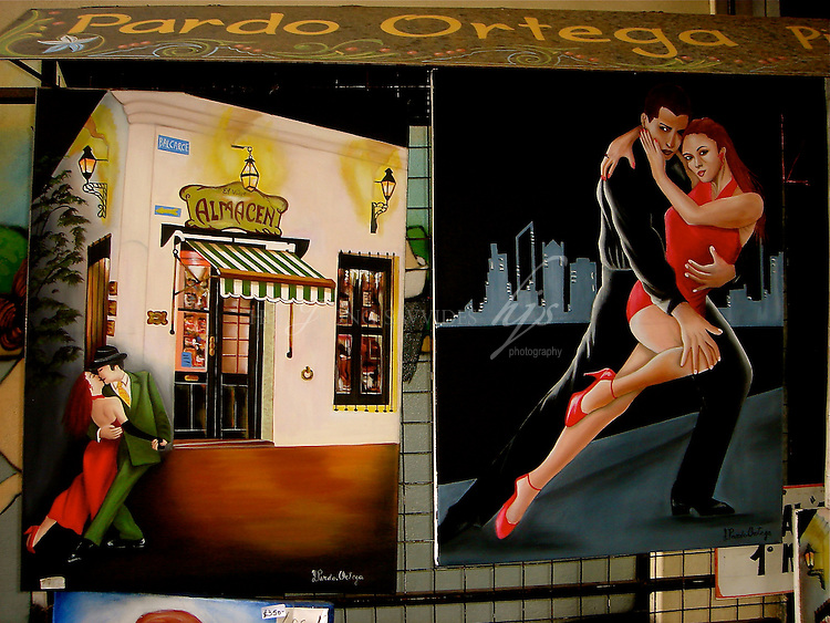 Tango Paintings, Caminito, Port La Boca, Buenos Aires, Argentina | Feb 08